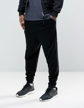 ASOS Drop Crotch Joggers In Lightweight Jersey