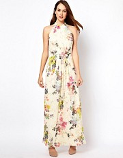 Ted Baker Belted Maxi Dress in Summer Bloom Print