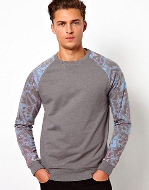 Image 1 ofASOS Sweatshirt With Mirrored Print