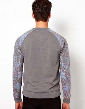 Image 2 ofASOS Sweatshirt With Mirrored Print