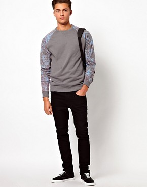 Image 4 ofASOS Sweatshirt With Mirrored Print