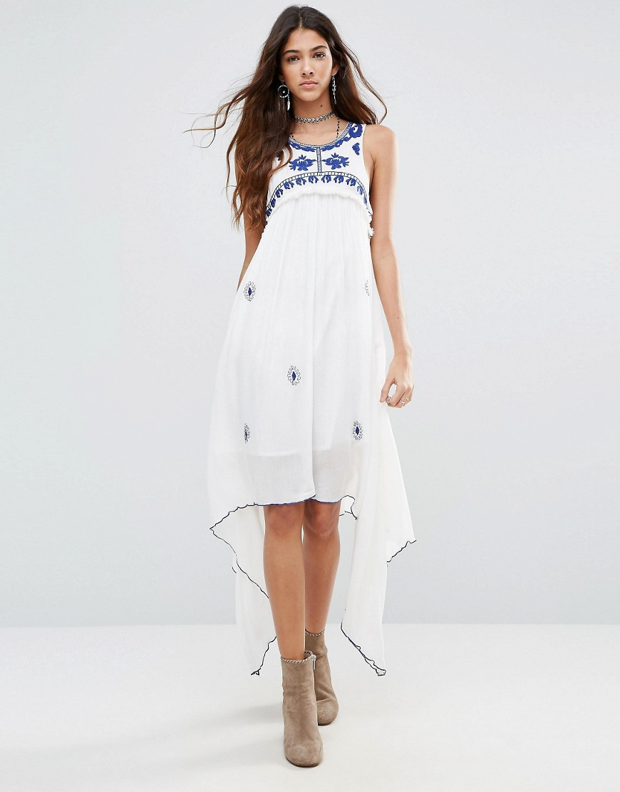 Raga Santorini Waterfall Dress - Eggshell
