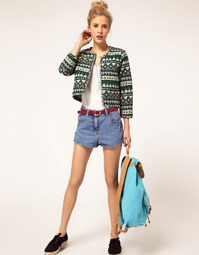 Image 4 ofASOS Printed Quilted Jacket