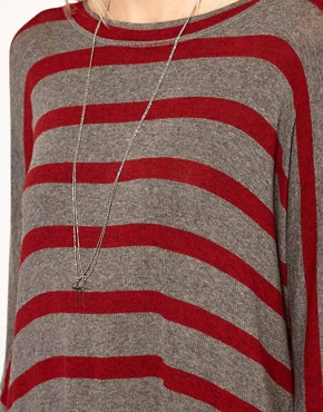 Image 3 ofLnA Striped Dip Hem Jumper