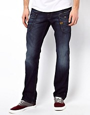 G Star - Nattacc - Jeans dritti scuri invecchiati