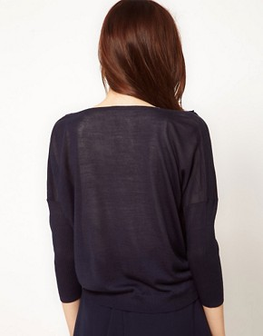 Image 2 of Vila Skinny Arm Slouchy Fine Knit Jumper