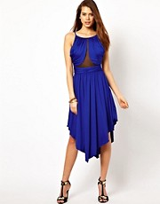 Rare Cut Out Curve Hem Dress