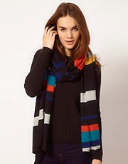 Alice Hannah Exclusive to ASOS Colourblock Scarf