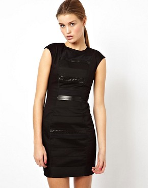ASOS Black Panelled Dress By Rayan Odyll