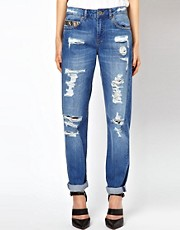 ASOS PETITE Rocco Boyfriend Jeans