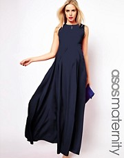 ASOS Maternity Pleated Maxi Dress