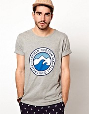 Penfield - T-shirt con stampa di mare e montagna