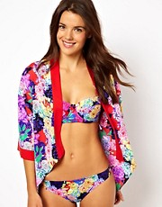 ASOS Penelope Floral Print Beach Kimono