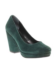 Gardenia Heeled Platform Green Court Shoes
