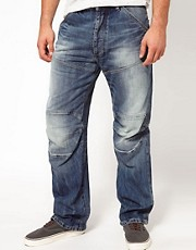 G Star - Elwood 3D - Jeans larghi effetto invecchiato medio