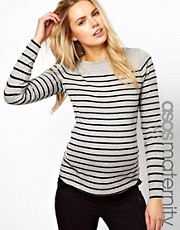 ASOS Maternity Exclusive Top In Breton Stripe