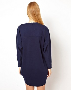 Image 2 ofASOS Sweat Dress In Ovoid Shape And Bonded Fabric