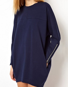 Image 3 ofASOS Sweat Dress In Ovoid Shape And Bonded Fabric