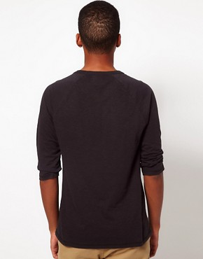 Image 2 ofASOS 3/4 Sleeve T-Shirt With Herringbone Pocket