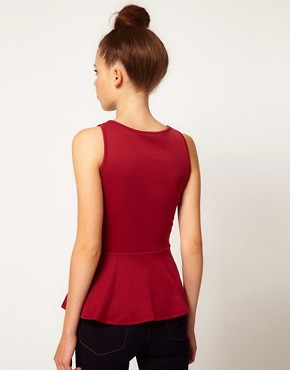 Image 2 ofA Wear Bow Peplum Top