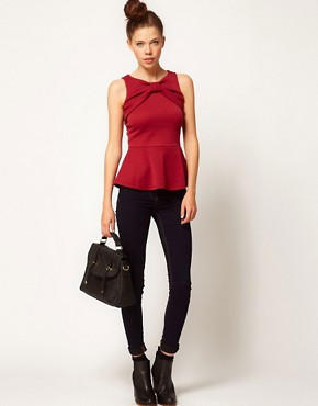 Image 4 ofA Wear Bow Peplum Top