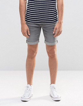 Blend Twister Slim Denim Shorts Grey