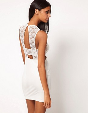 Image 2 ofASOS Mini Dress with Lace Detail