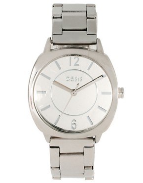 Image 1 ofOasis Silver Bracelet Watch With Square Face