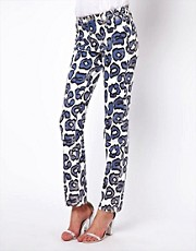 Vivienne Westwood Anglomania For Lee Leopard Skinny Jeans