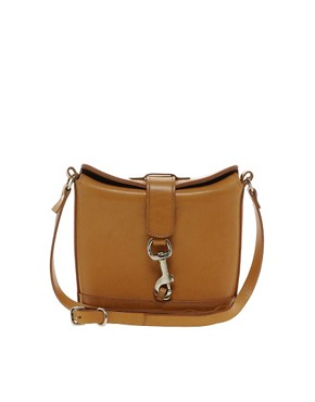 Image 1 ofPeter Jensen Small Leather Angela Cross Body Bag