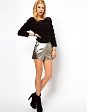 ASOS Knicker Short in Gold Texture