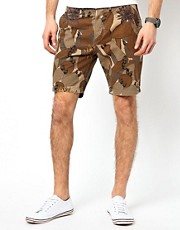Paul Smith Jeans Chino Shorts with Floral Camo Print