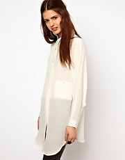Just Female Silk Oversized Blouse