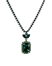 Krystal Swarovski Small Sqaure Drop Necklace