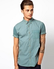 River Island Short Sleeved Shirt with Aztec Pocket