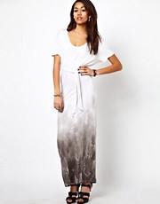 Religion Maxi Dress With Feather Print