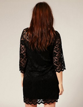 Image 2 ofASOS CURVE Slash Neck Lace Dress