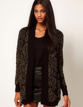 Image 1 ofGlamorous Cardigan in Metallic Baroque