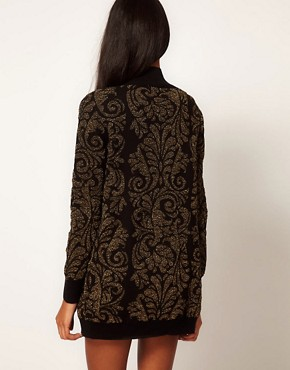 Image 2 ofGlamorous Cardigan in Metallic Baroque