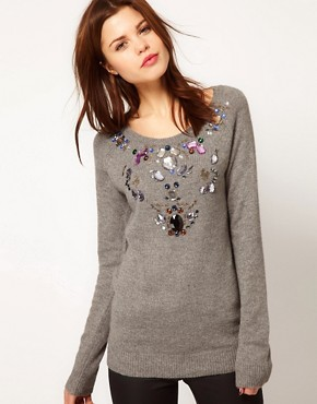 Image 1 ofWarehouse Jewelled Jumper