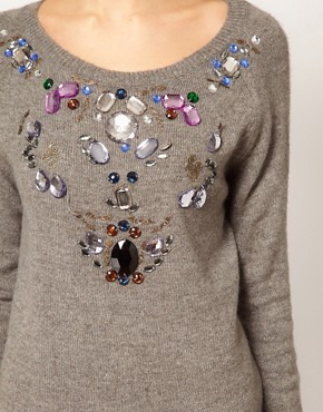 Image 3 ofWarehouse Jewelled Jumper