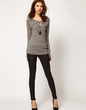 Image 4 ofWarehouse Jewelled Jumper