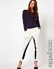 ASOS PETITE Exclusive Pants With Contrast Panel