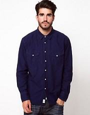 Edwin Printed Chambray Shirt