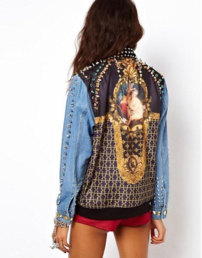 Image 2 of ASOS Premium Embellished Jewel Denim Jacket