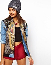ASOS Premium Embellished Jewel Denim Jacket
