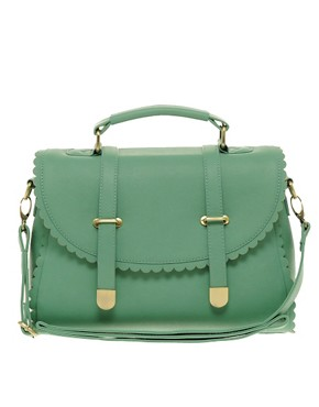 Image 1 ofASOS Scallop Detail Satchel Bag