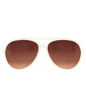 Image 2 ofJeepers Peepers Sadie Ivory Aviator Sunglasses
