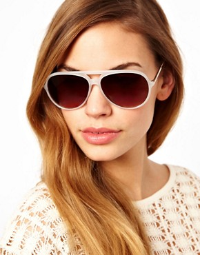 Image 3 ofJeepers Peepers Sadie Ivory Aviator Sunglasses