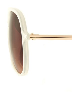 Image 4 ofJeepers Peepers Sadie Ivory Aviator Sunglasses